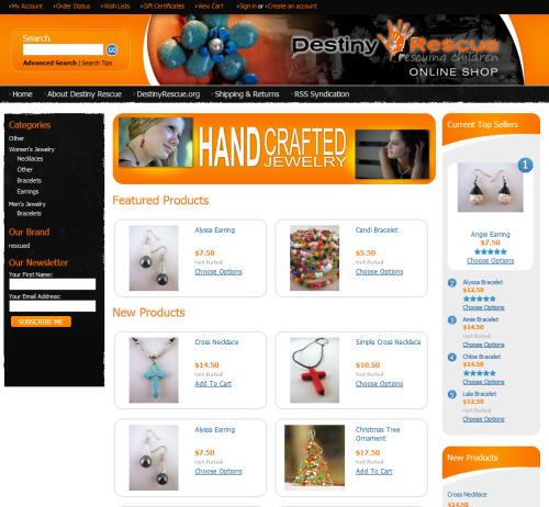 Official Destiny Rescue Online Store